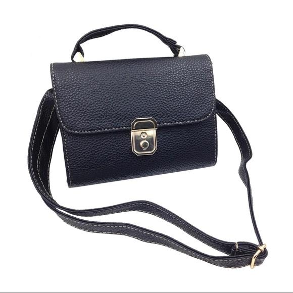 Ocean Fashion Handbags - Elegant black small leather bag